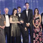 Pictured left to right:  Ryan Cox of STL with the LawNet team : Nicolle Warren, Chris Marston, Helen Hamilton Shaw, Graham Ford, George Coombes, Felicity Towers, Peter Riddleston, and (far right) comedian Jimmy Carr.